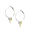 Silk&Steel Jewellery - 3 Way Hoop / Silver + Gold / Earrings