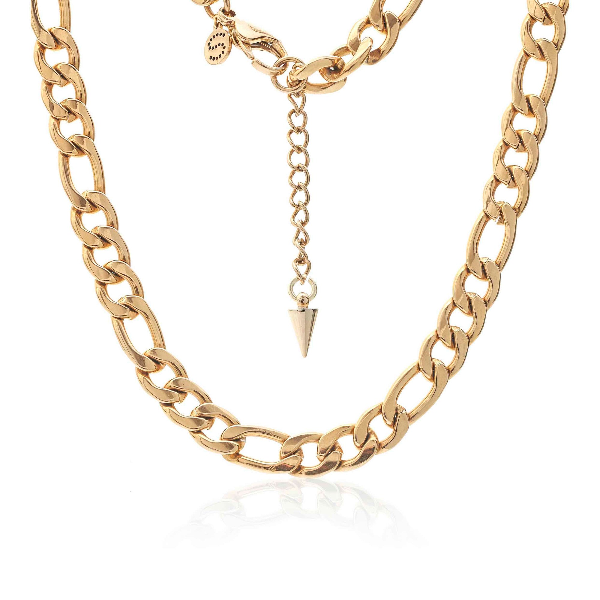 Silk & Steel Figaro Necklace Gold