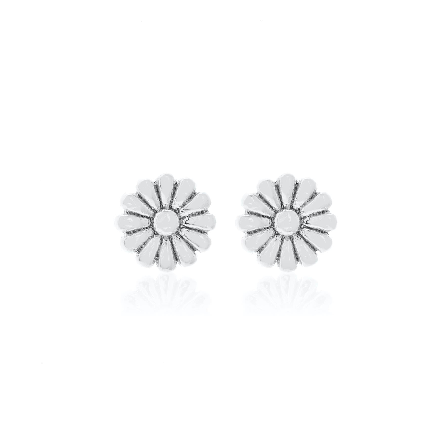 Silk & Steel Jewellery Superfine Daisy Stud Earrings Silver