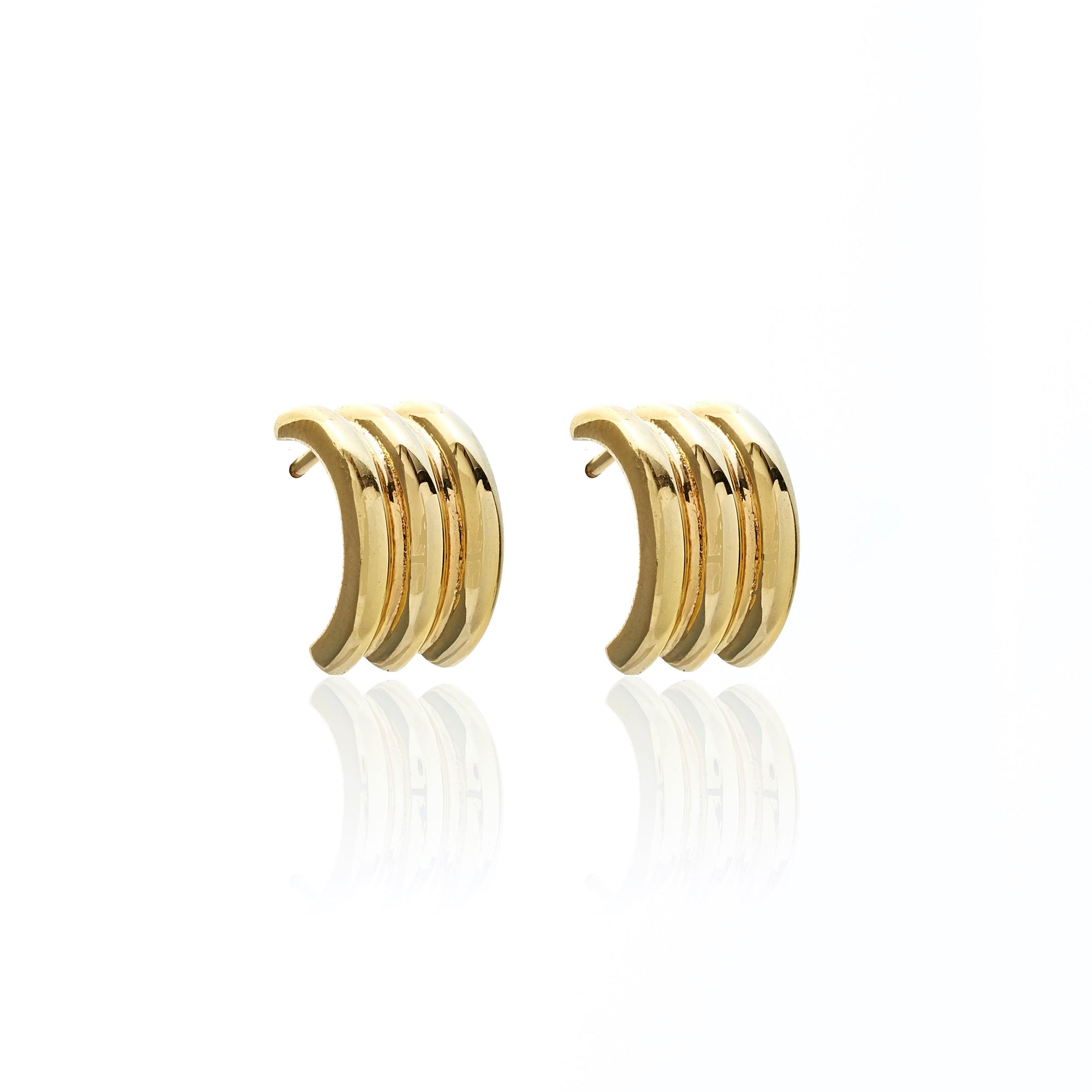 Silk & Steel Jewellery Ella Hoops Gold Small