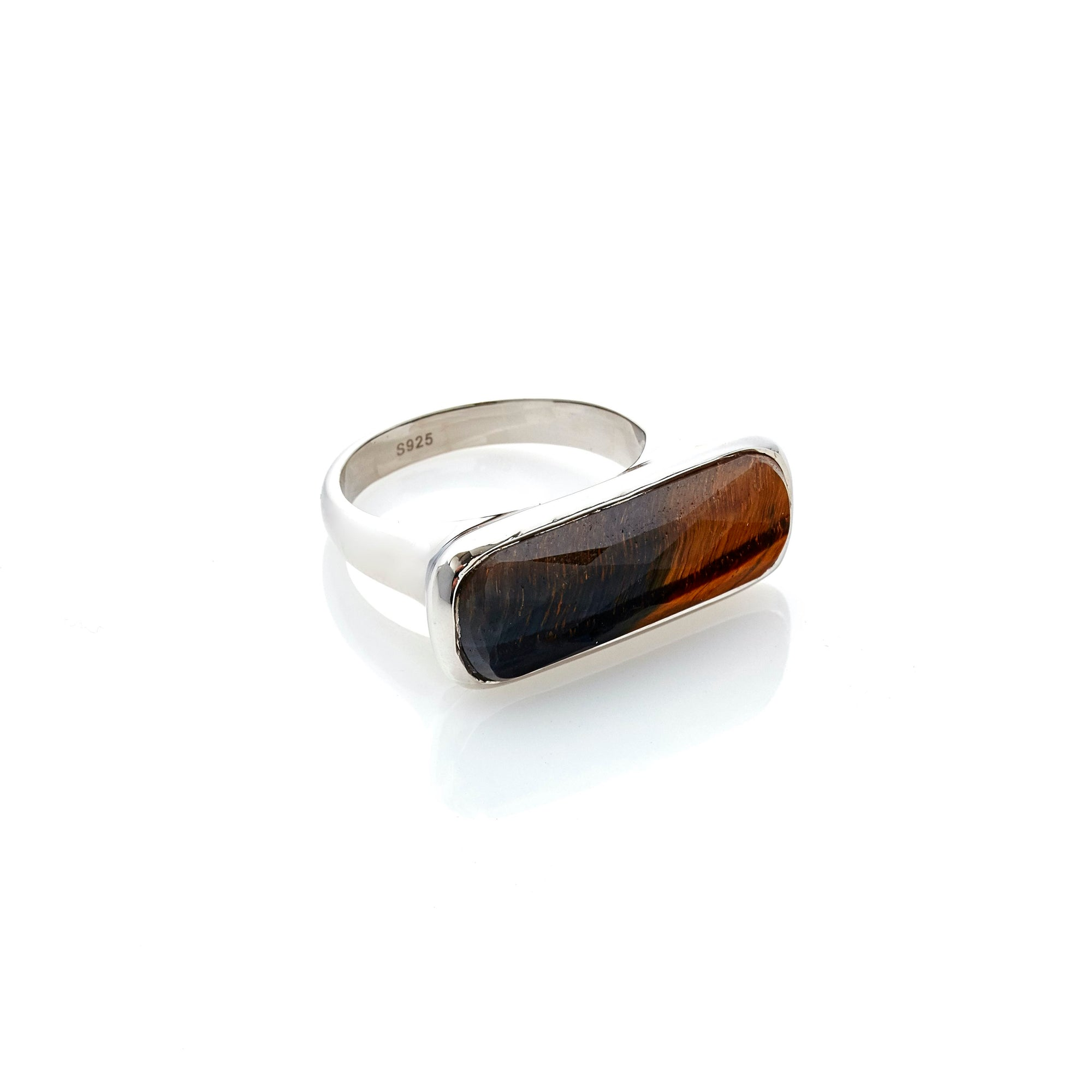 Silk & Steel Jewelley Grace Ring Tiger Eye Silver
