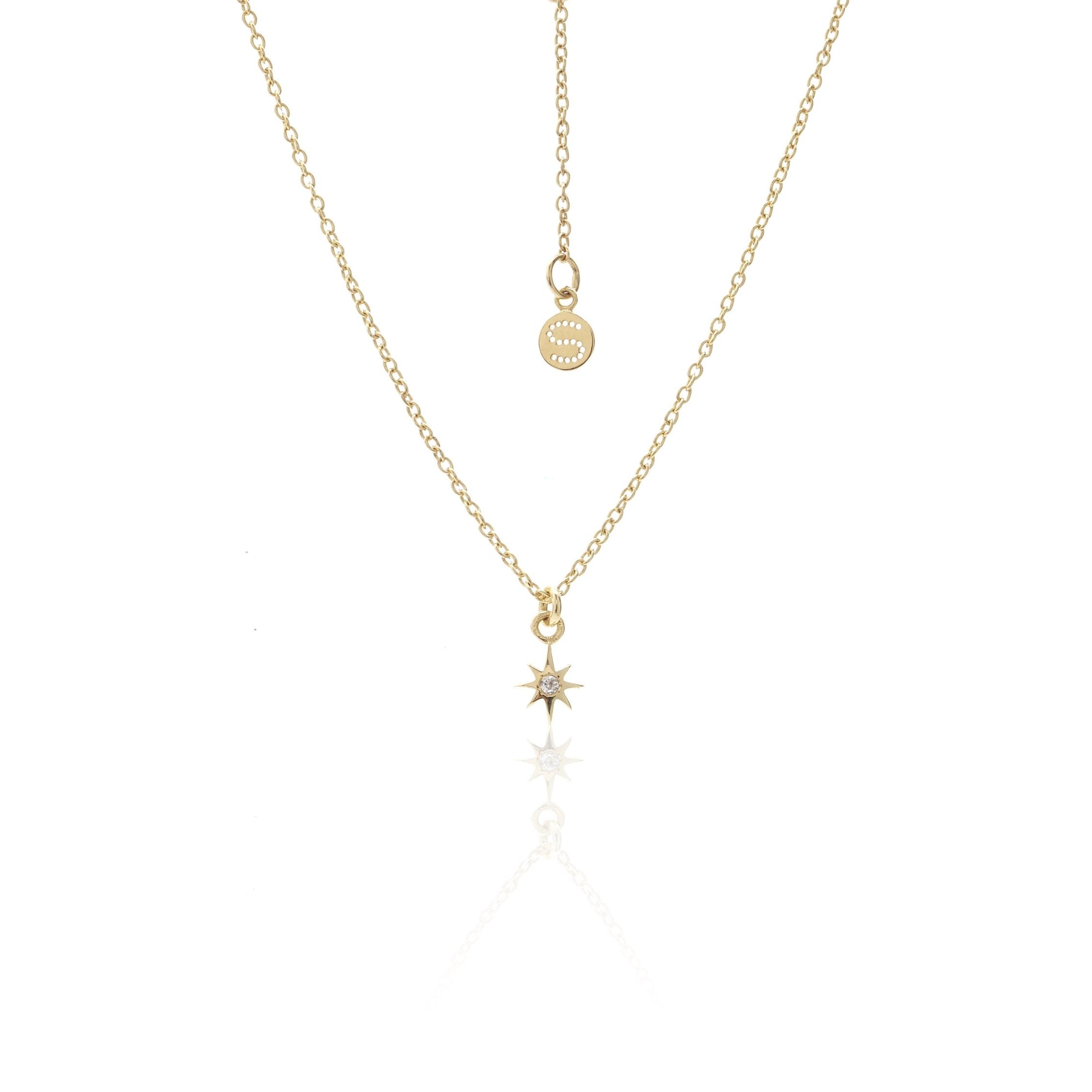 Silk & Steel Superfine Talisman Petite Star Necklace Gold