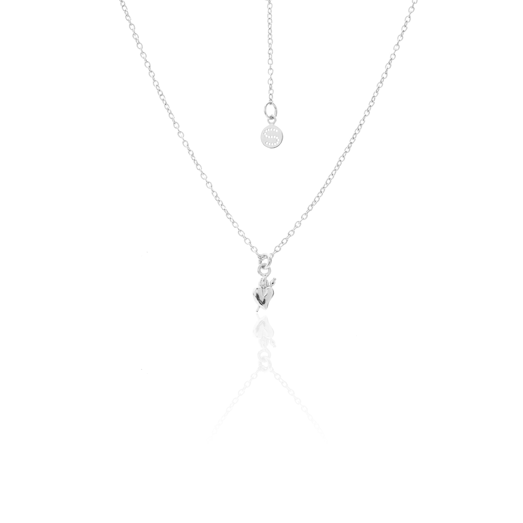 Silk & Steel Superfine Talisman Petite Ultimate Love Necklace Silver