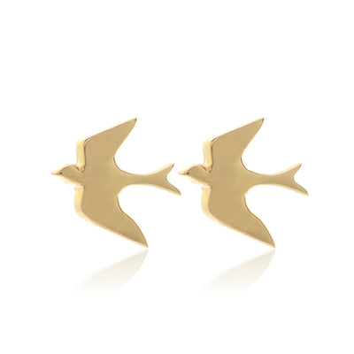Silk & Steel Superfine Talisman Petite Swallow Studs