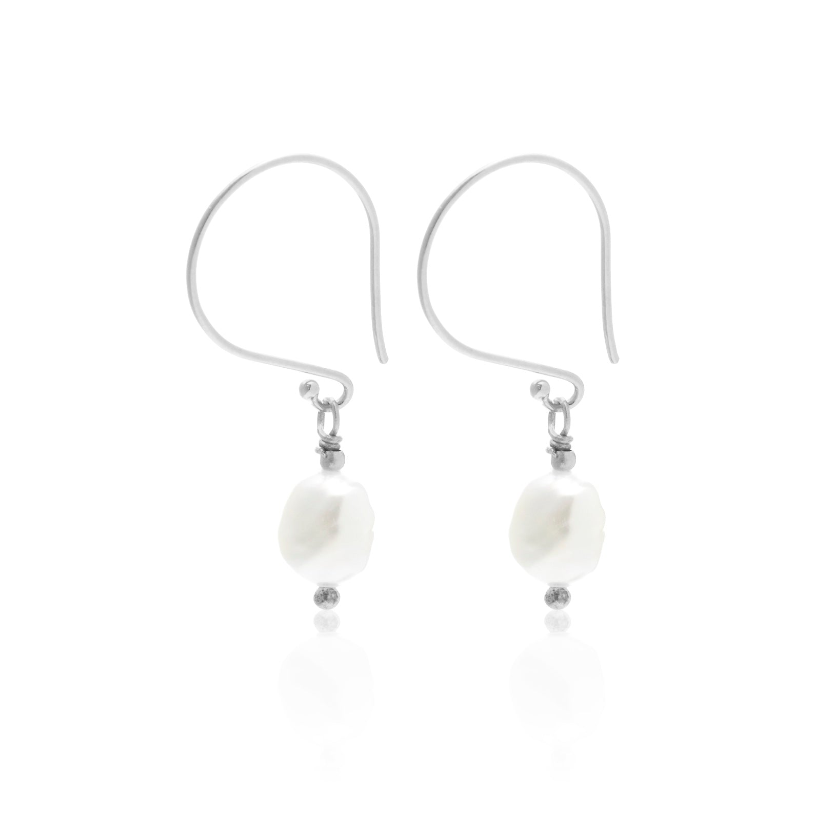 Baroque 'n' Roll / Earrings / Pearl + Silver