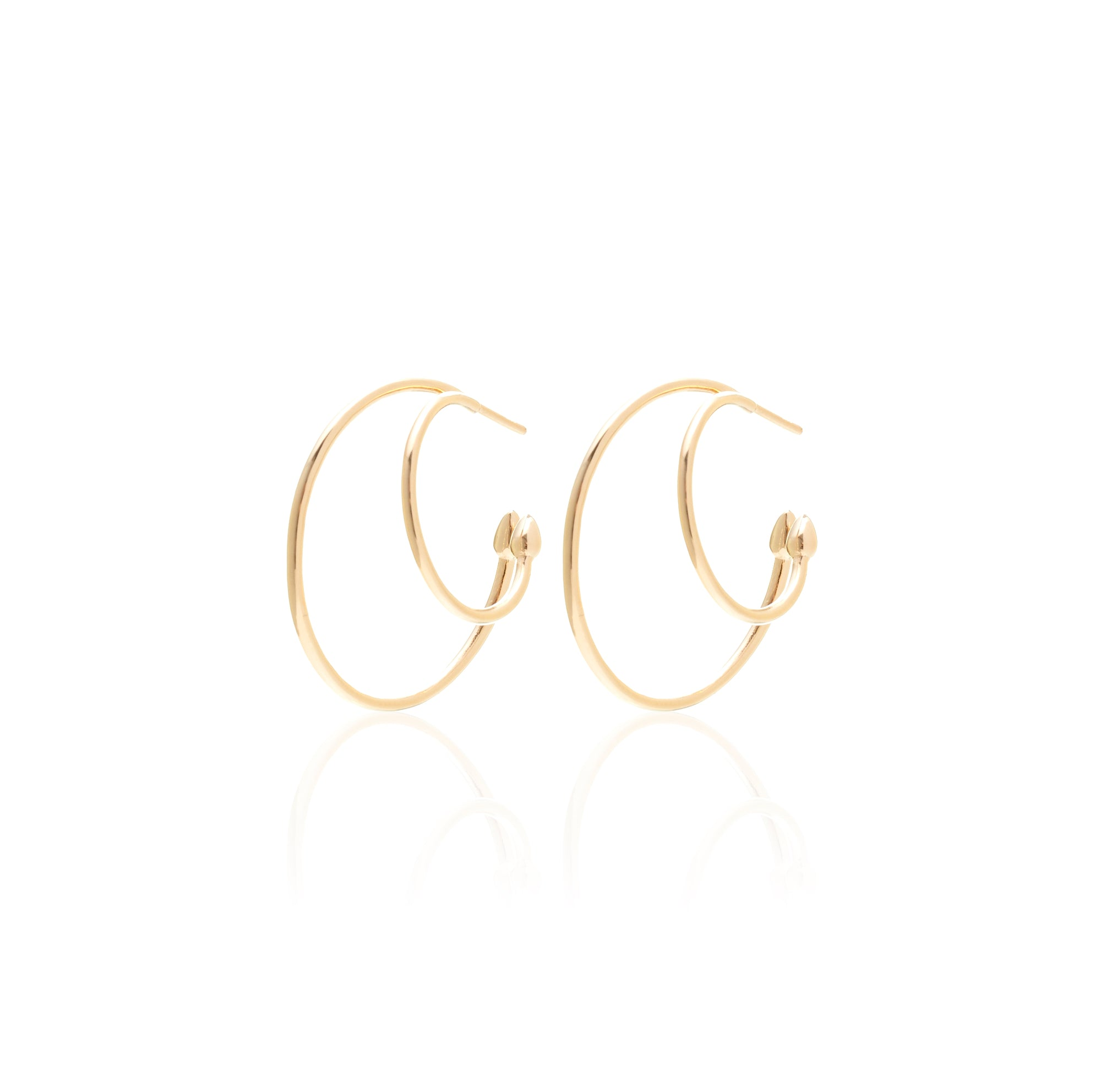 Silk&Steel Jewellery Double Life Double Hoop earrings gold