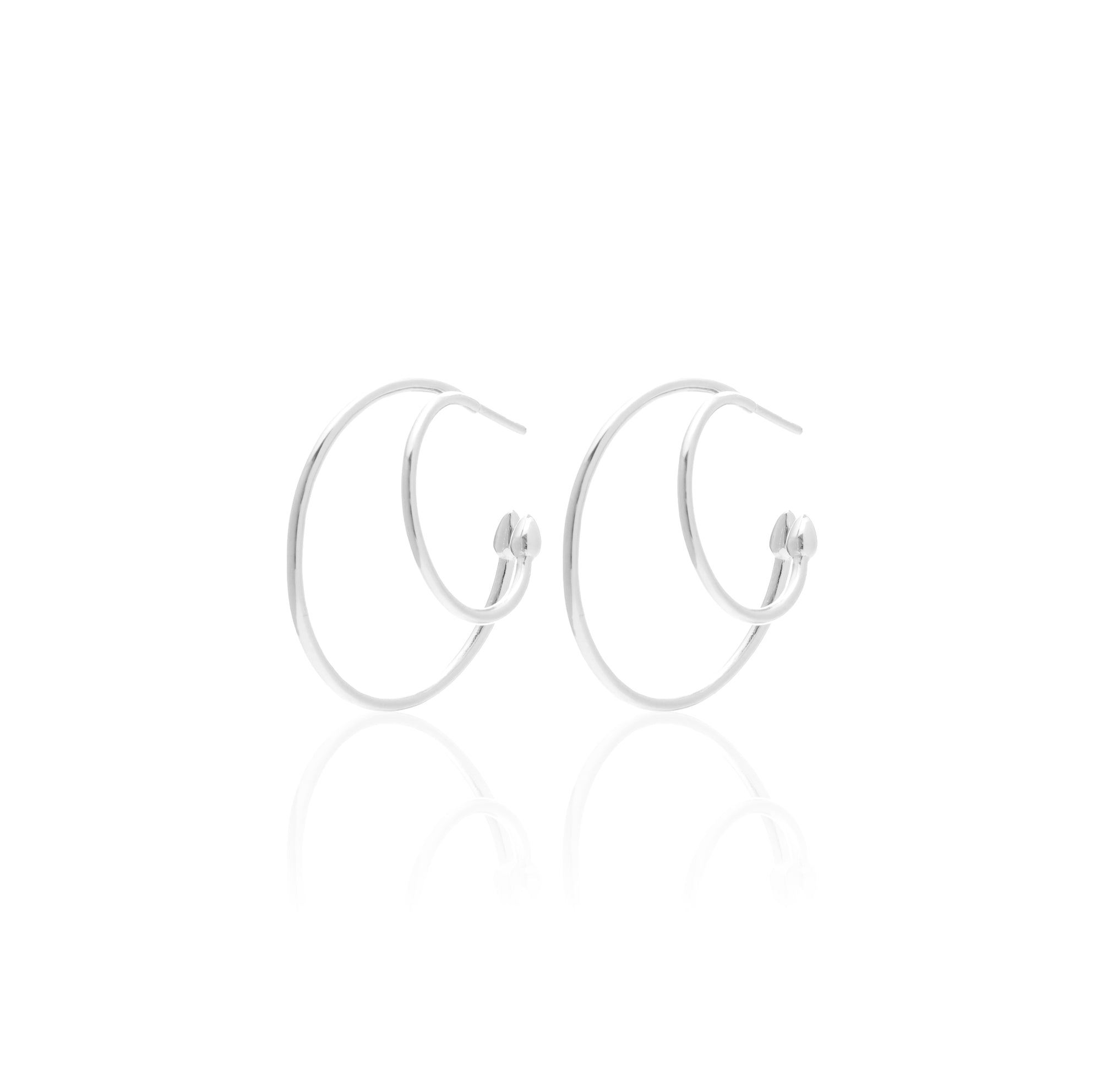 Silk & Steel Jewellery Double Hoop Double Life earrings
