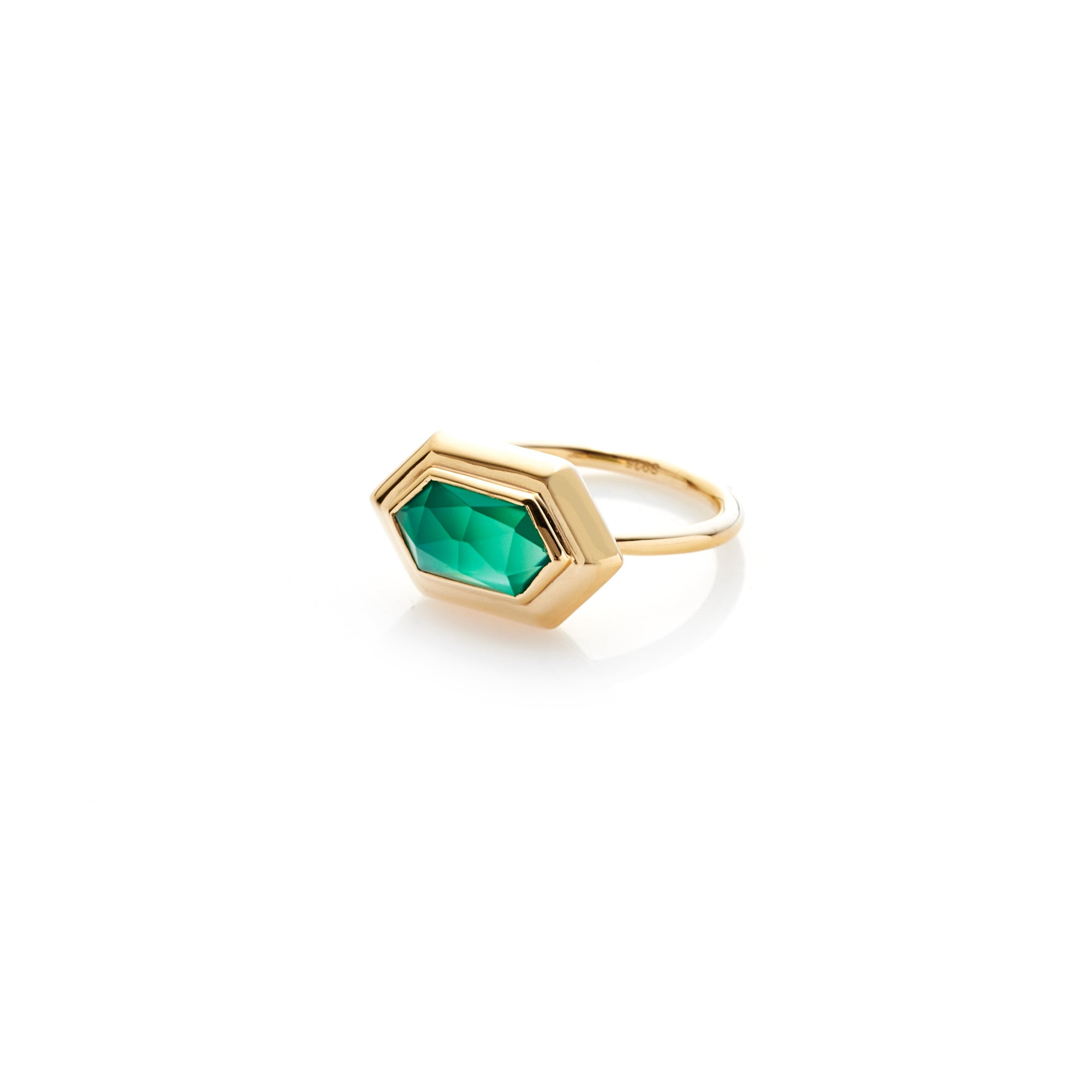 Haveli / Green Onyx + Gold / Ring