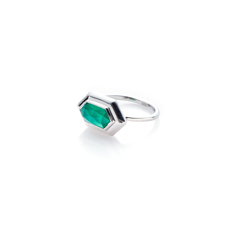 Haveli / Green Onyx + Silver / Ring