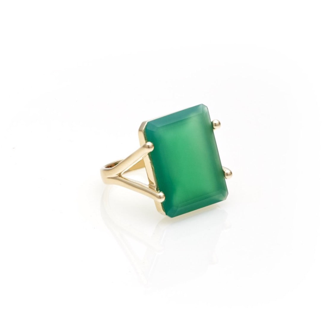 Prima Donna / Green Onyx + Gold / Ring