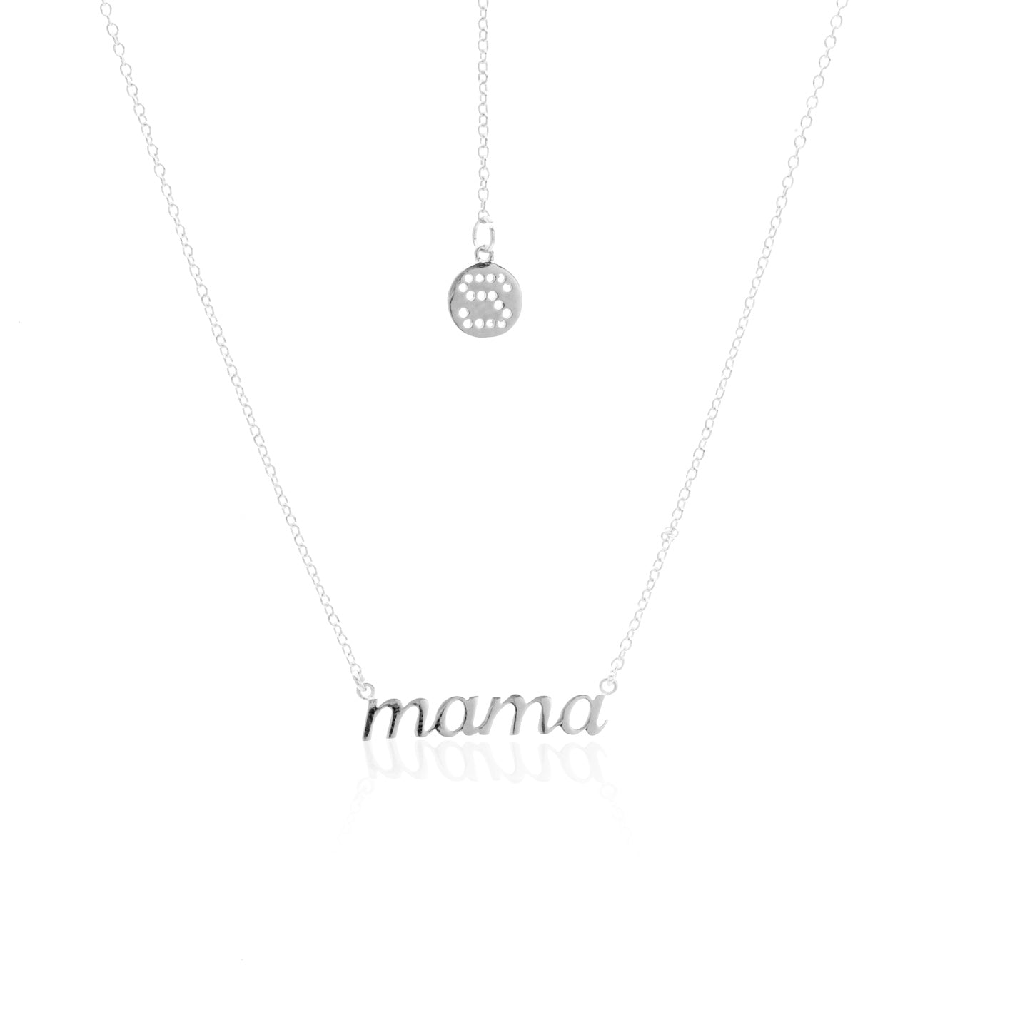 Silk & Steel Jewellery Superfine Mama Gold Sterling Silver Necklace