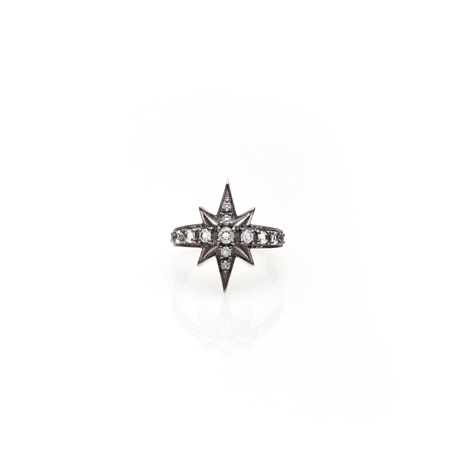 Silk & Steel Jewellery Superstar White Topaz Gold ring