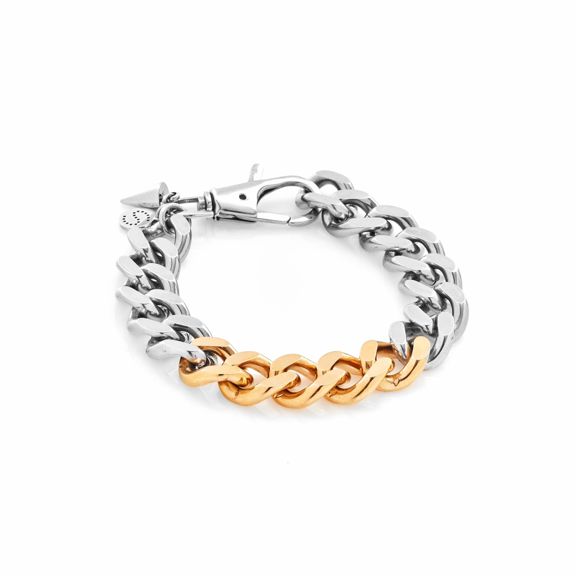 Silk & Steel x Storm Collab Two-Tone Revival curb chain Bracelet