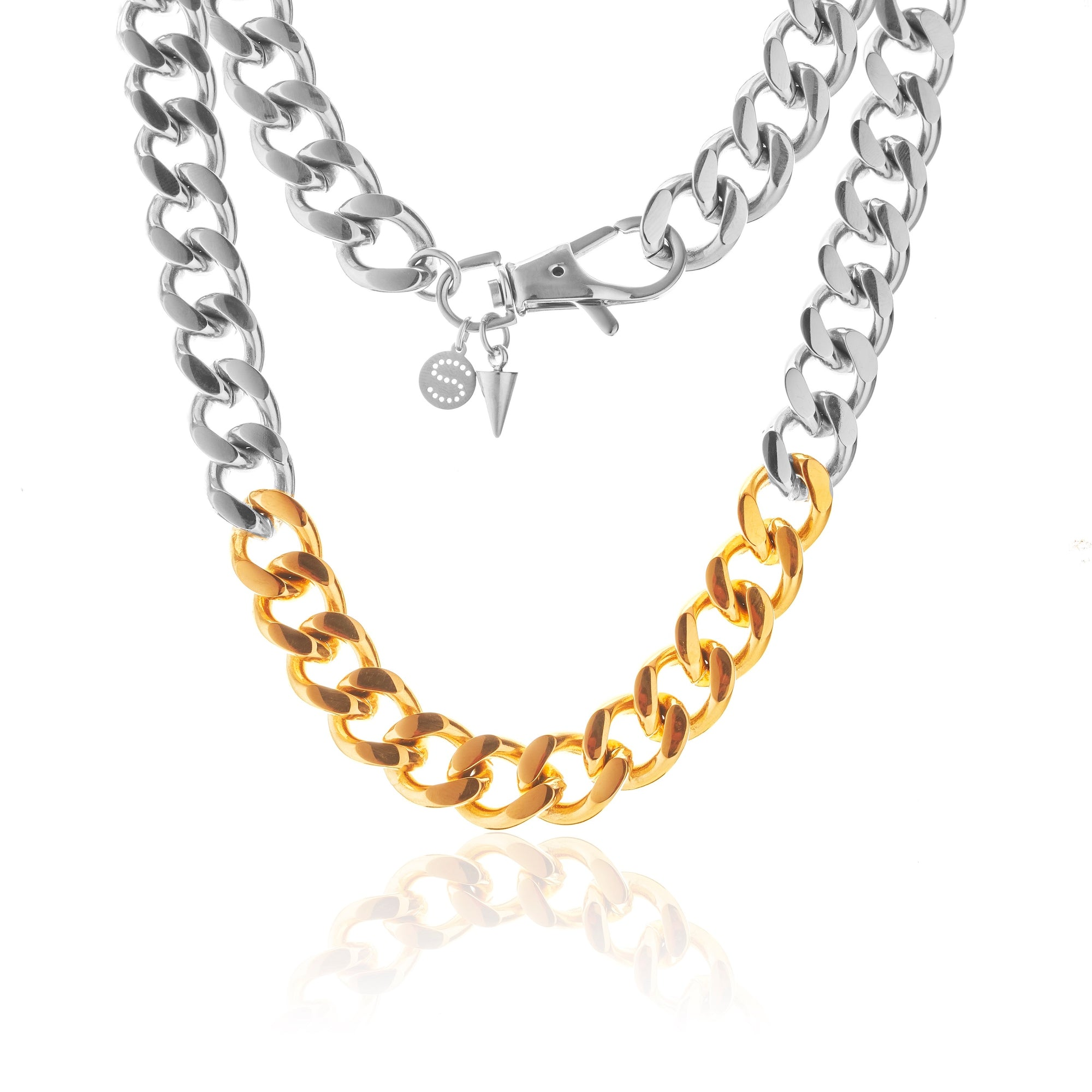 Silk & Steel x Storm Collab Two-Tone Revival curb chain Necklace