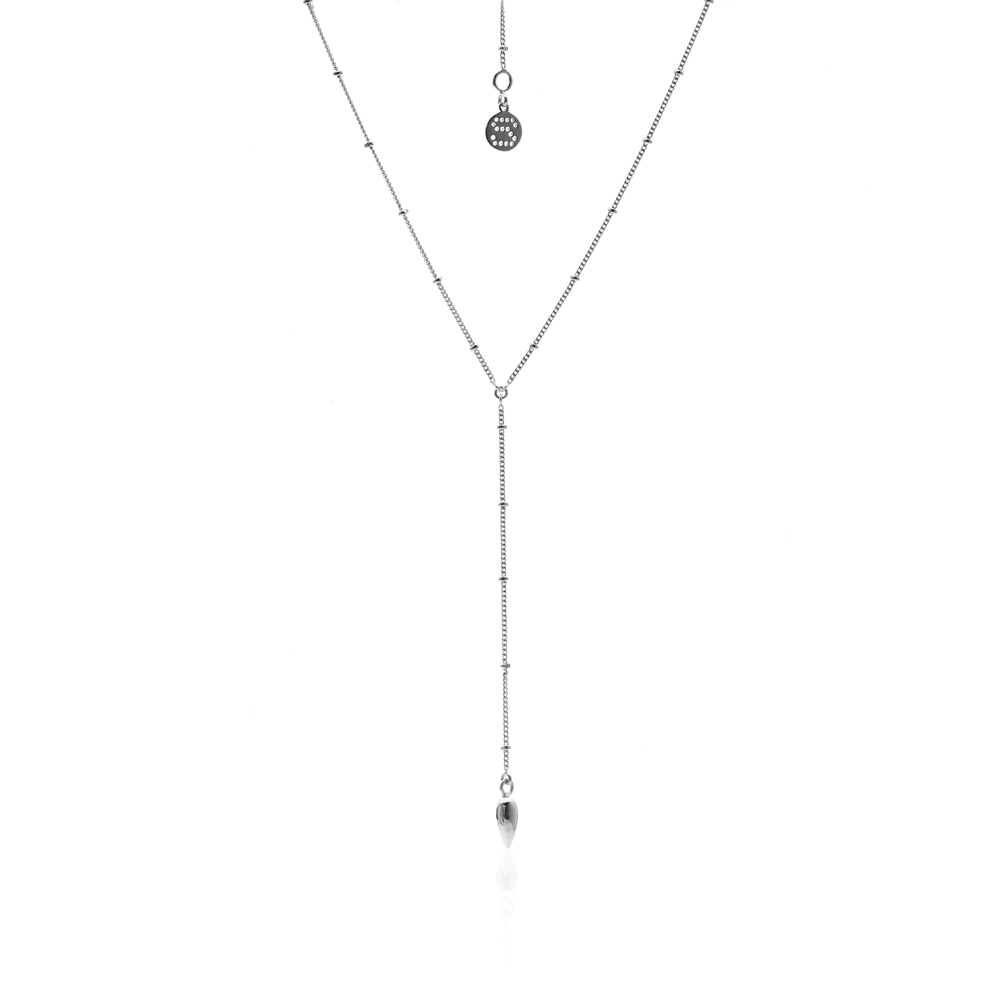 Silk&Steel Jewellery Alto Sterling Silver Y Necklace From Aria Collection