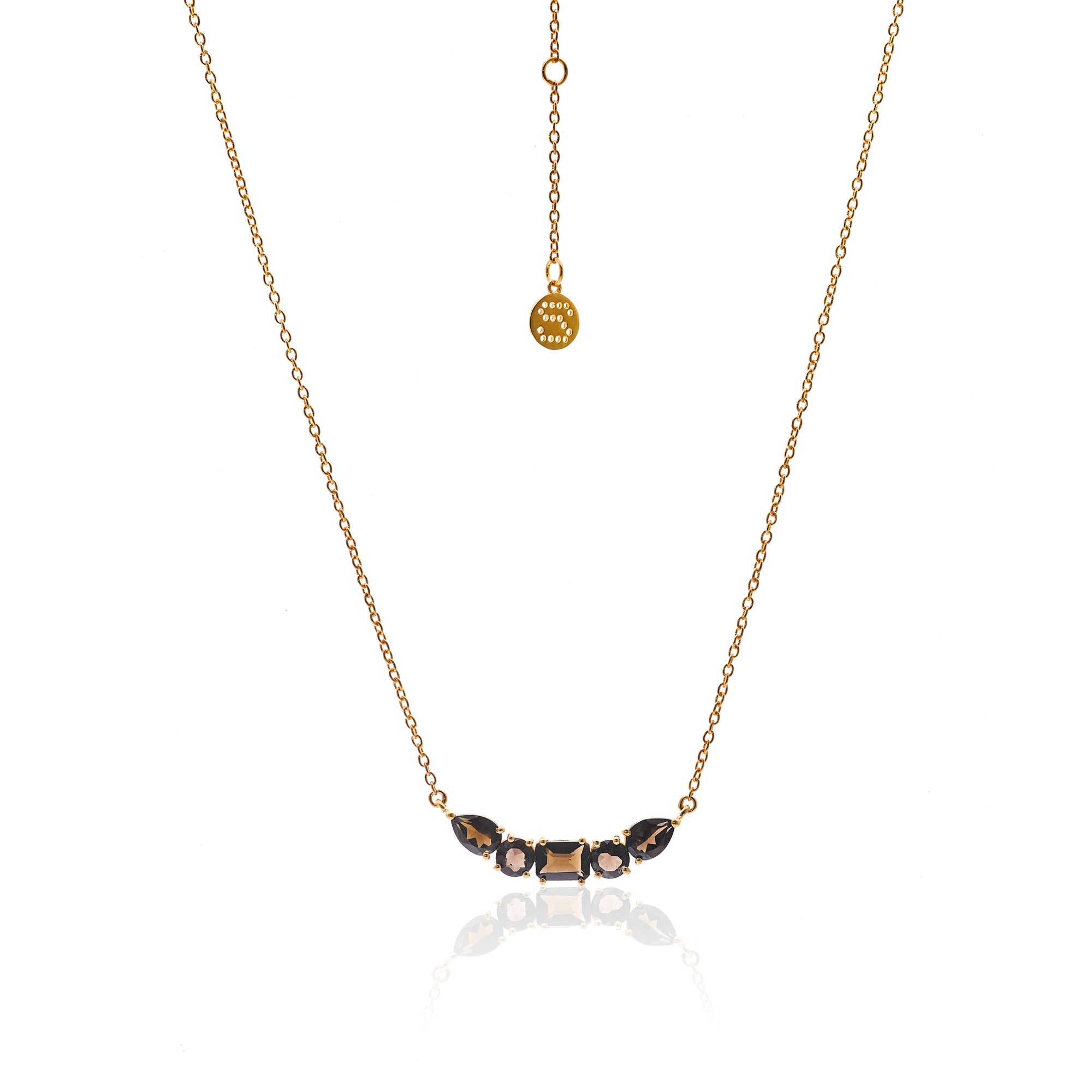 Amore / Smokey Quartz + Gold / Necklace