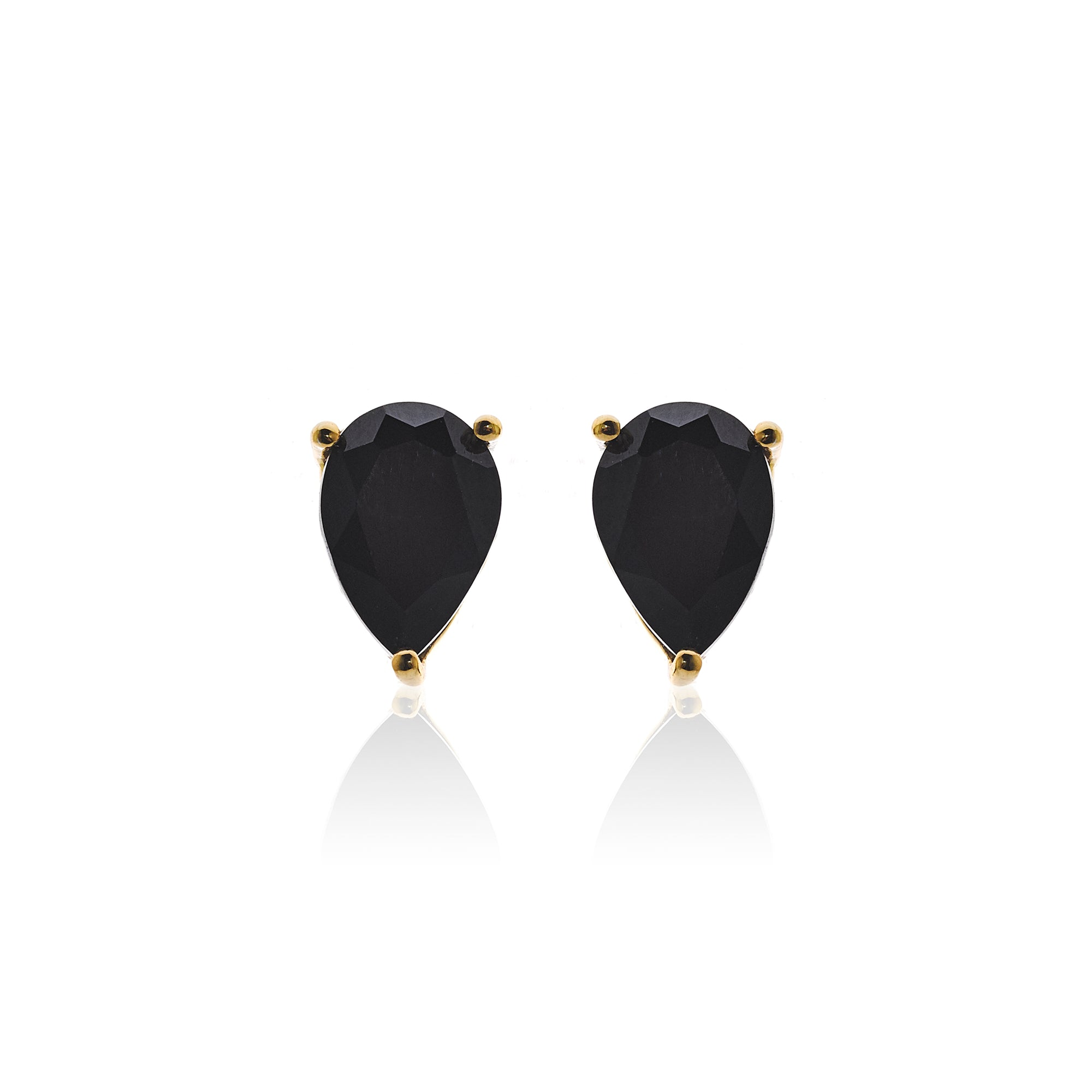 Silk&Steel Jewellery Diva Earrings Black Spinel and Gold From Aria Collection
