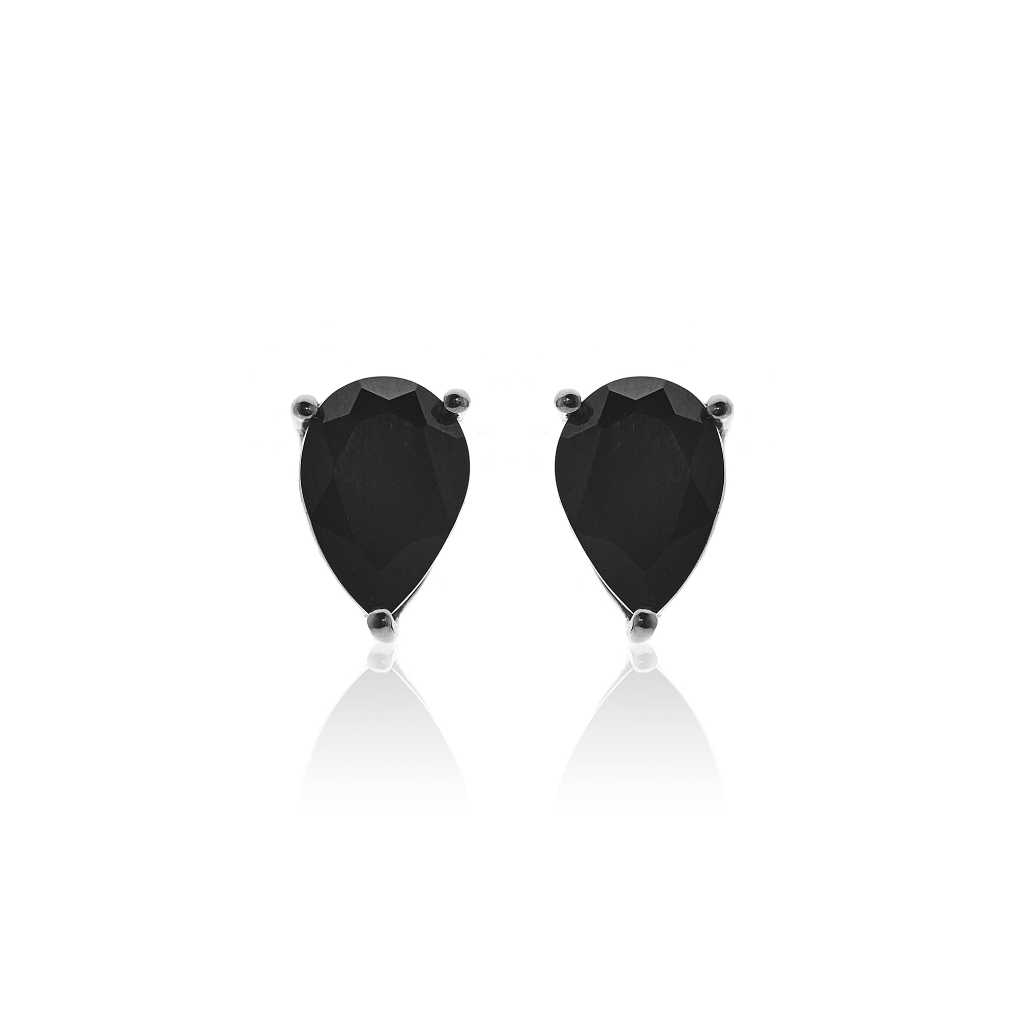 Silk&Steel Jewellery Diva Earrings Black Spinel and Silver From Aria Collection