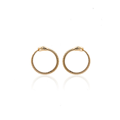 Silk&Steel Jewellery Gold Infinity Snake Earrings