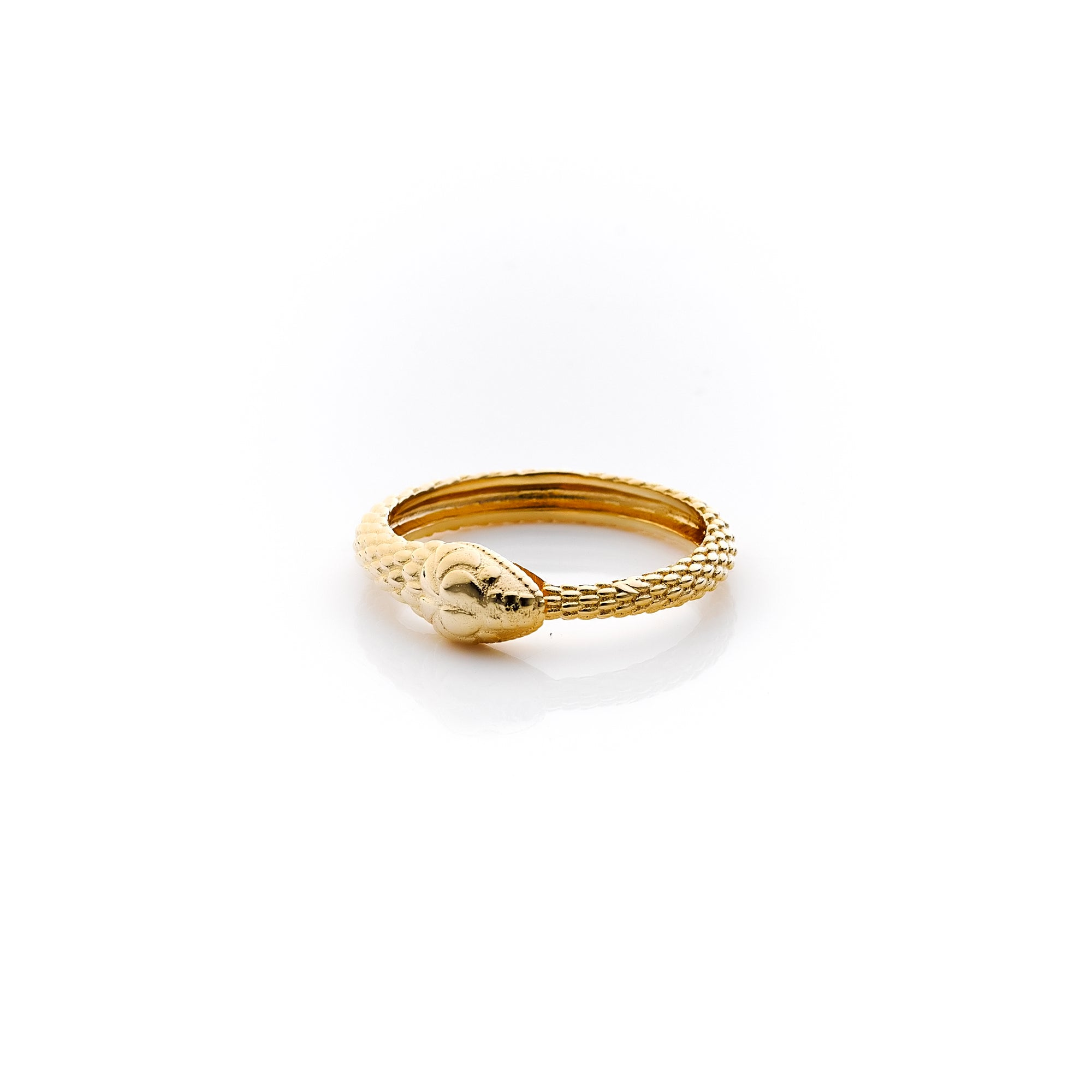 Silk&Steel Jewellery Gold Snake Infinity Ring