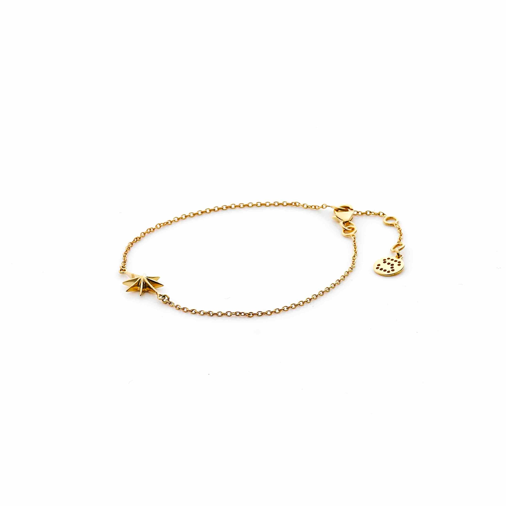 Silk & Steel Jewellery North Star Gold Bracelet