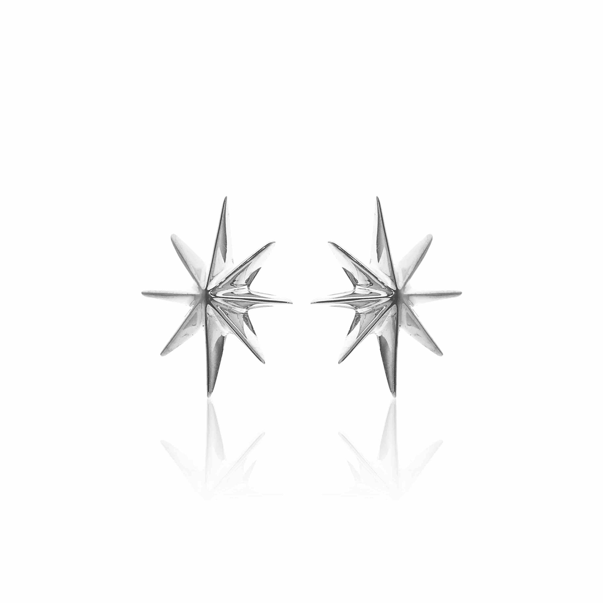 Silk & Steel Jewellery North Star Gold Stud Earrings