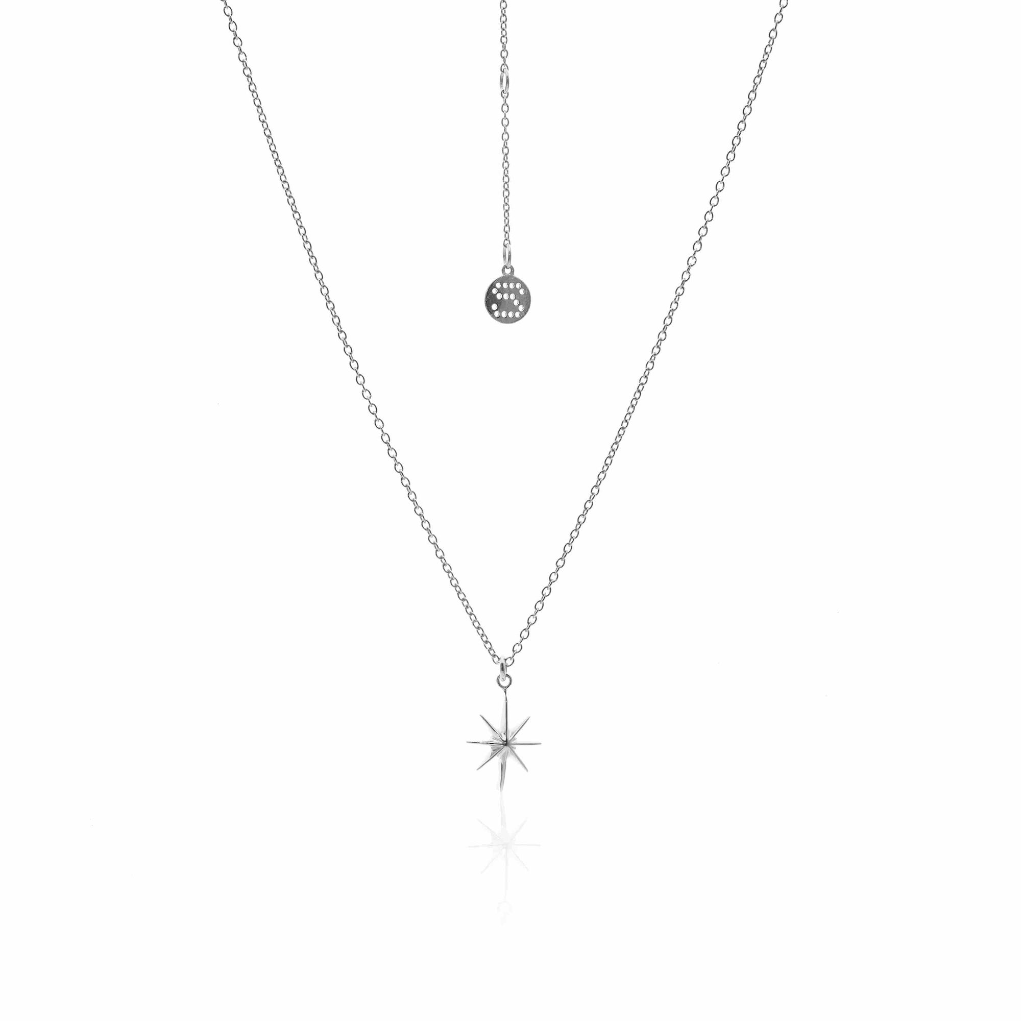 Silk & Steel Jewellery North Star Silver Necklace