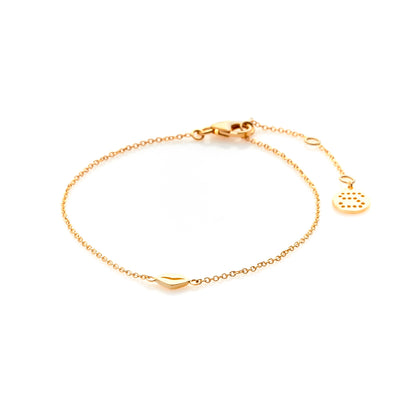 Silk & Steel Jewellery Sterling Silver Superfine Gold Kiss bracelet