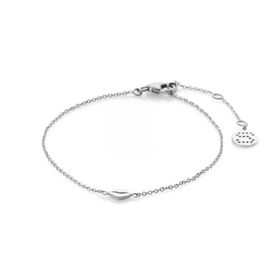 Silk & Steel Jewellery Sterling Silver Superfine Kiss bracelet