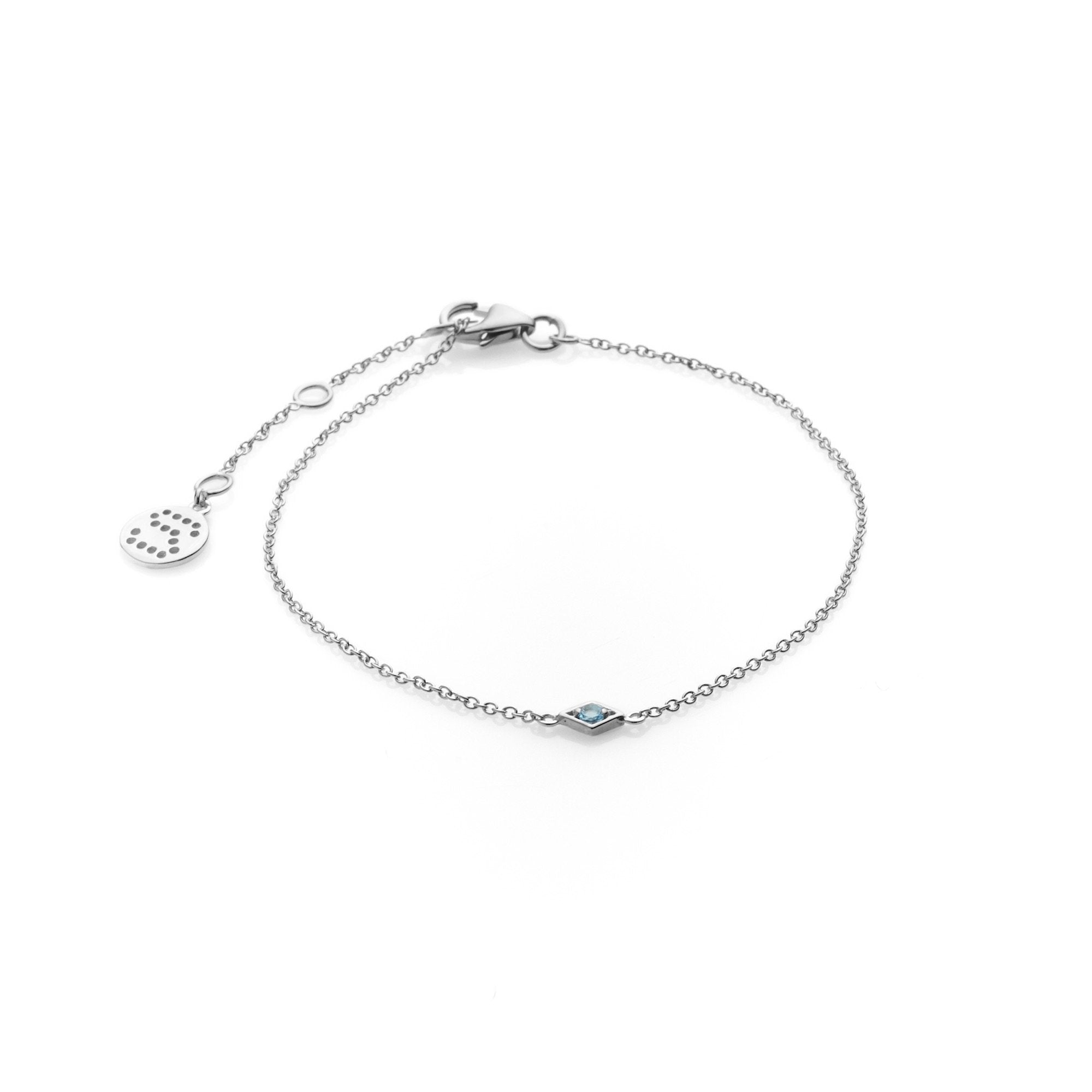 Silk & Steel Jewellery Sterling Silver Keepsake blue topaz bracelet