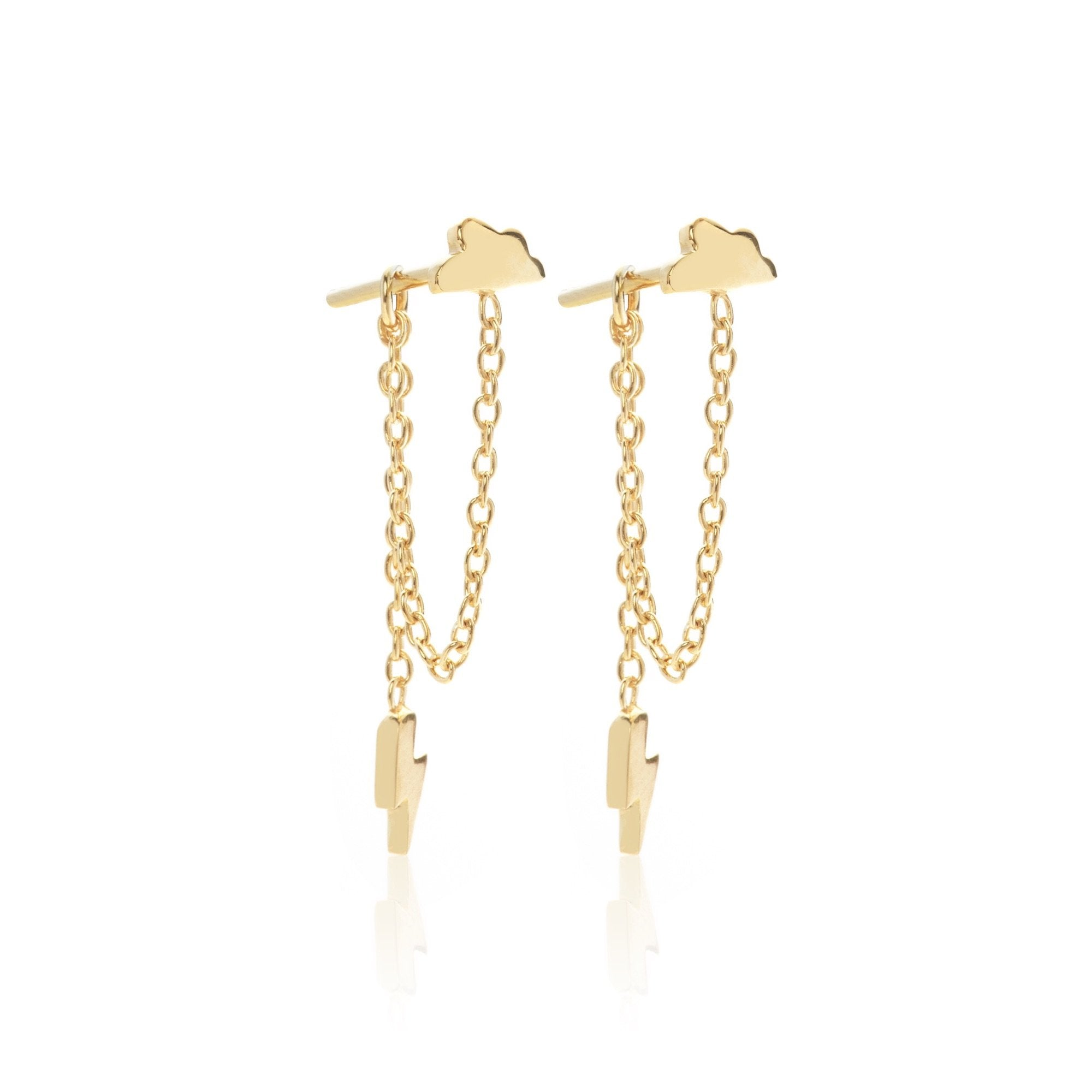 Silk & Steel Jewellery Superfine Gold Storm Drop earrings