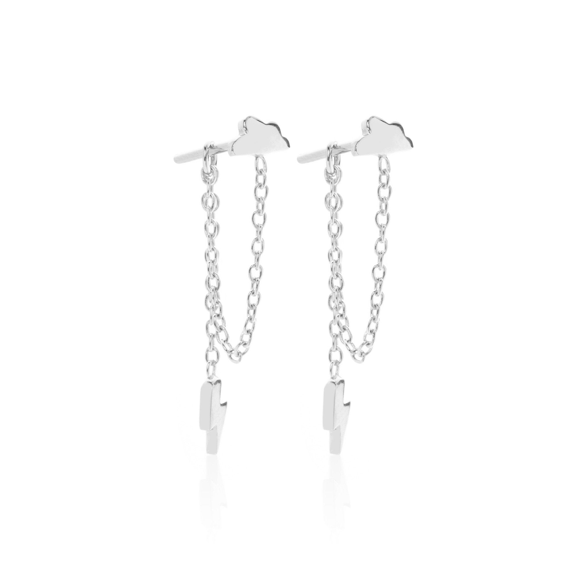 Silk & Steel Jewellery Superfine Silver Starry Night Drop earrings