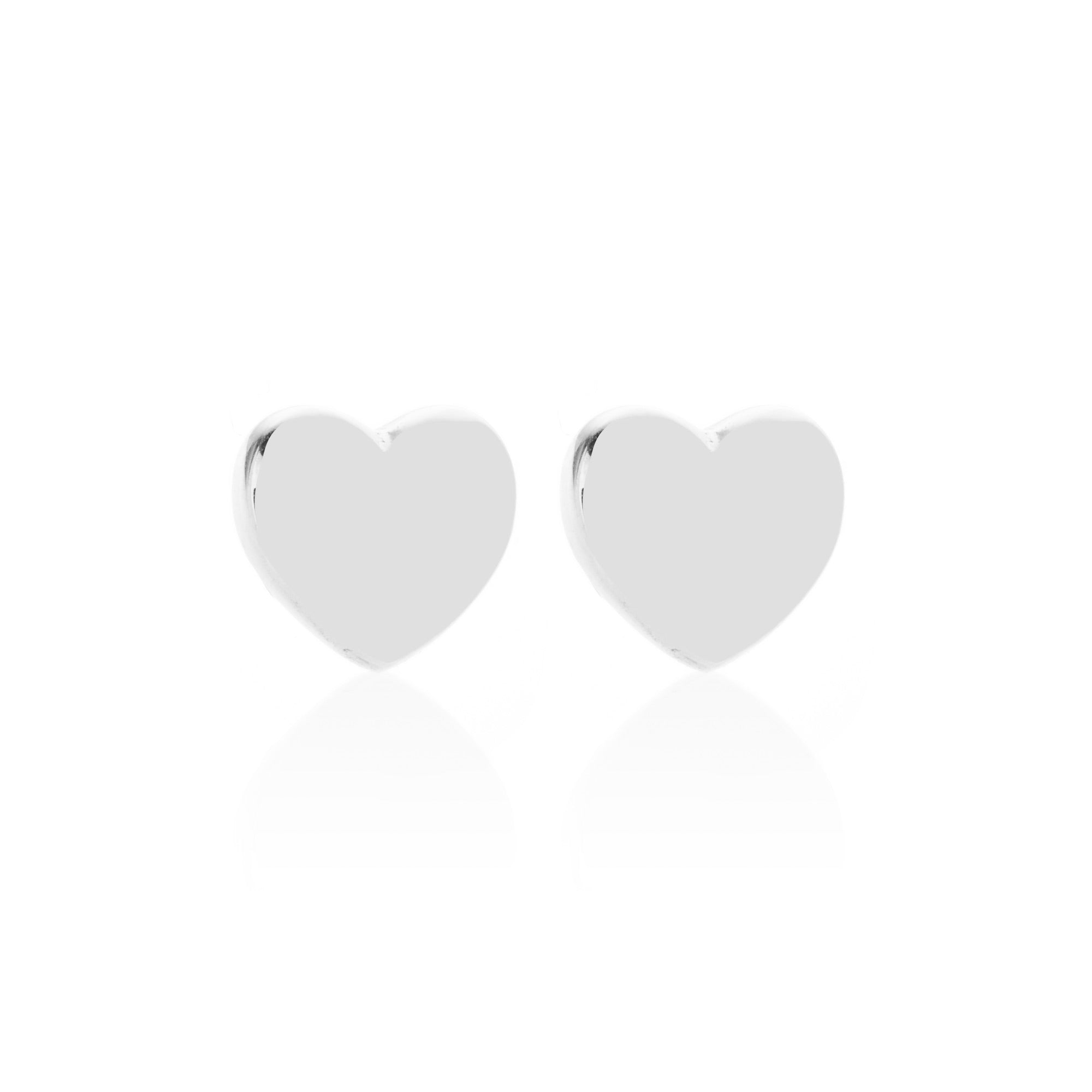 Silk & Steel Jewellery Superfine Silver Sweetheart Sterling Silver Stud Earrings