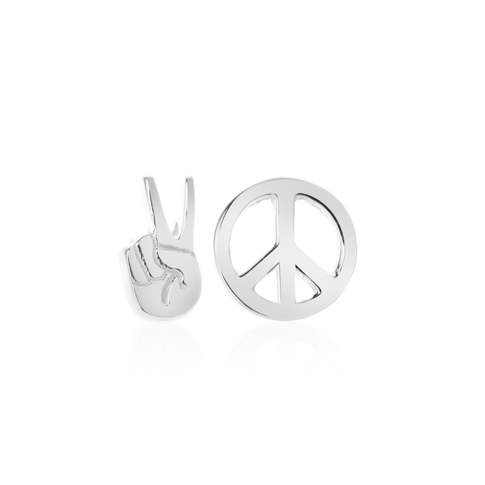 Silk & Steel Jewellery Superfine Peace Out Sterling Silver Stud