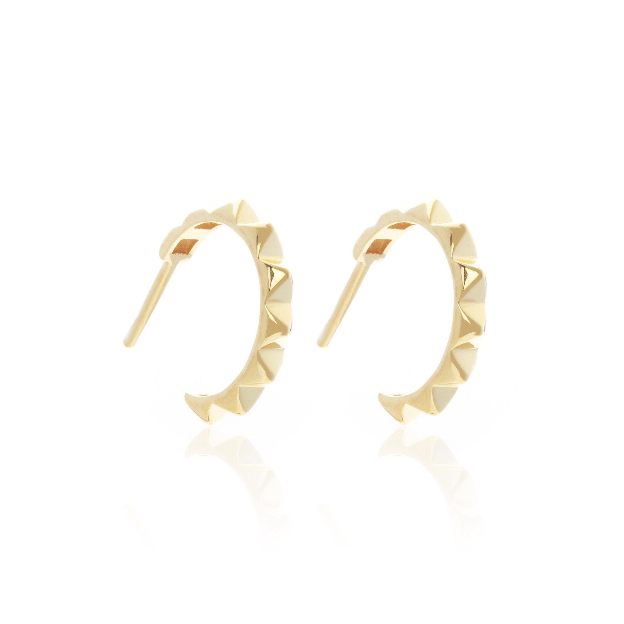 Silk & Steel Jewellery Perfect Party Hoop Earrings Gold plated Sterling Silver