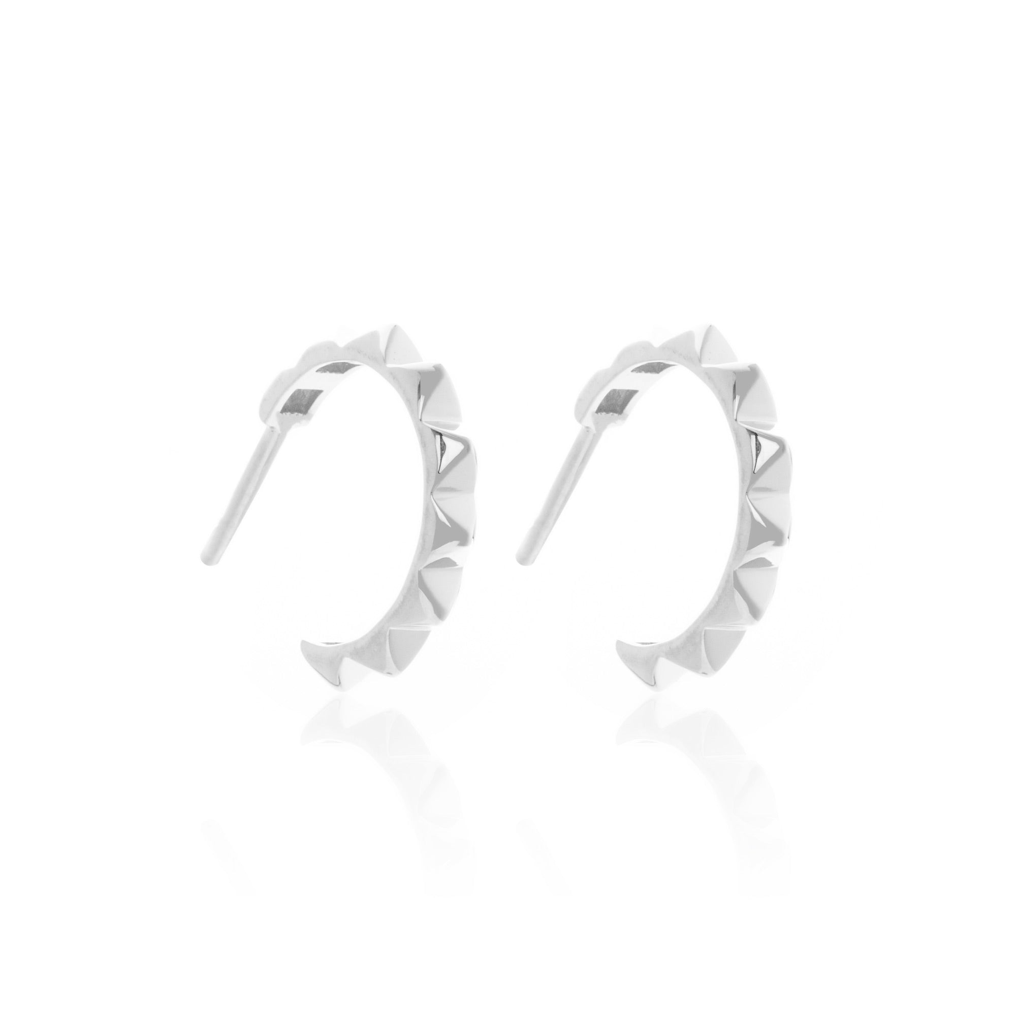 Silk & Steel Jewellery Intimate Party Hoop Earrings Sterling Silver
