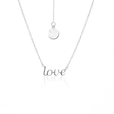 Silk & Steel Jewellery Superfine LOVE Sterling Silver Necklace