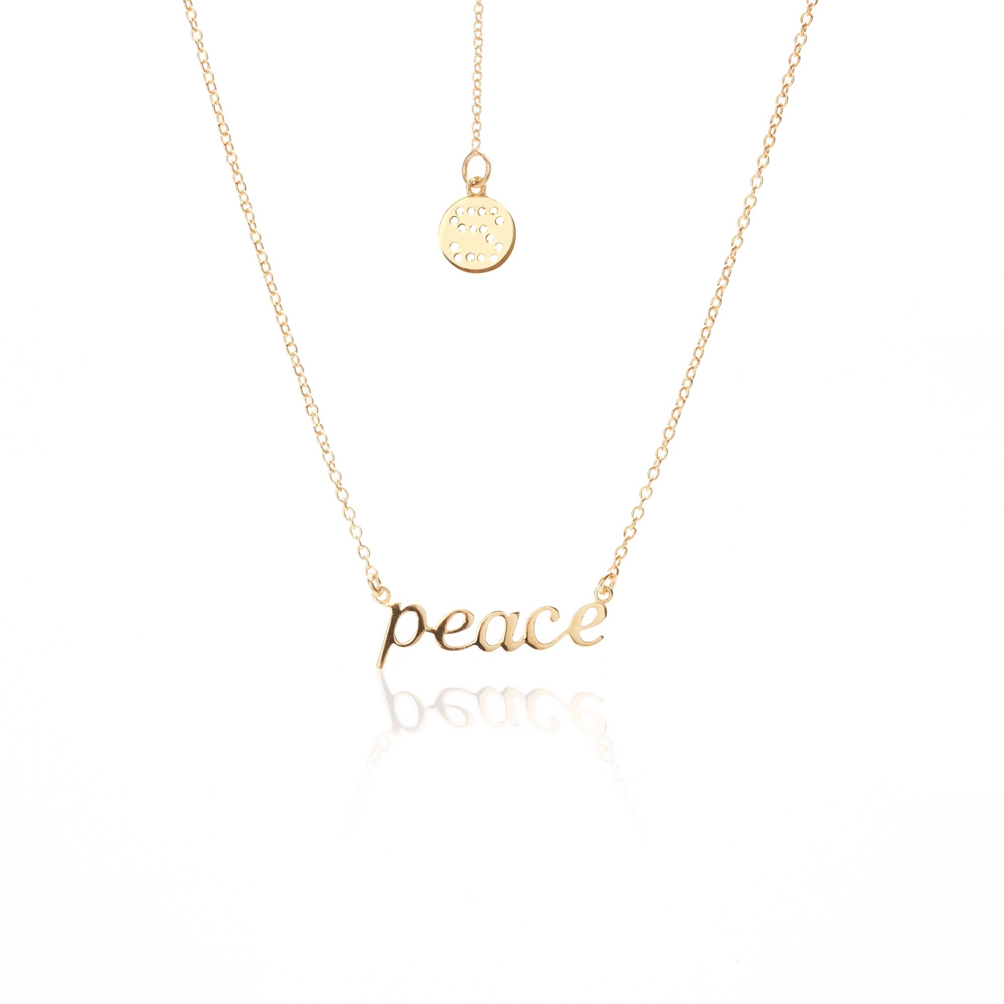 Superfine / Necklace / PEACE / Gold
