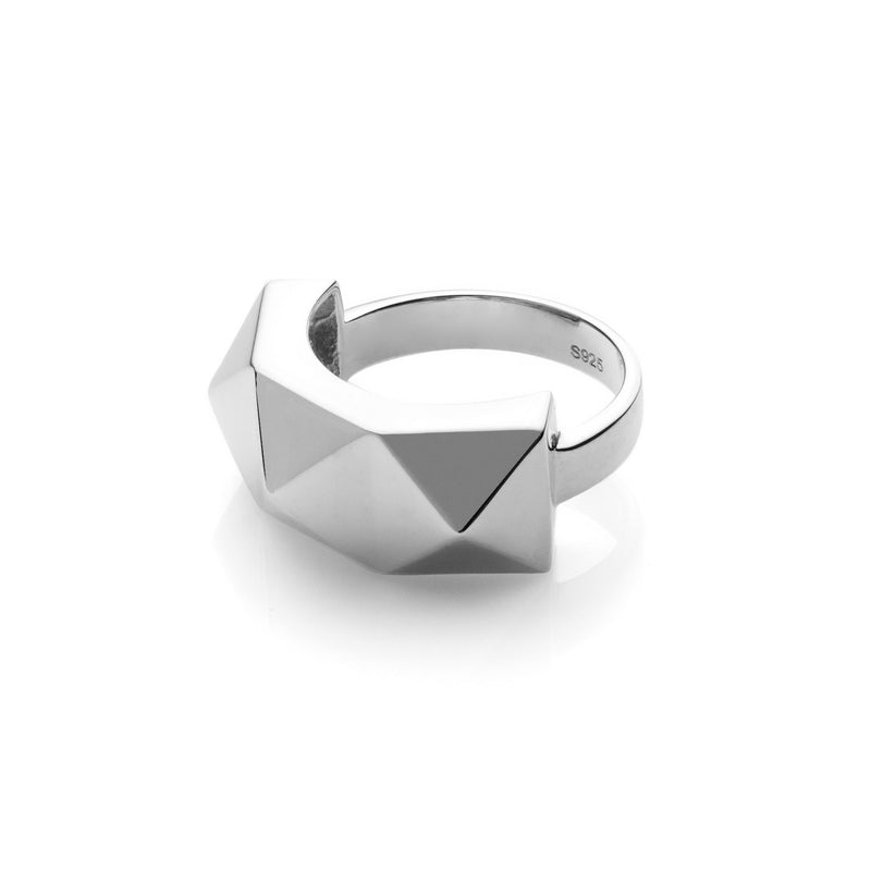 Silk & Steel Jewellery Awaiting Sterling Silver Pyramid spike ring