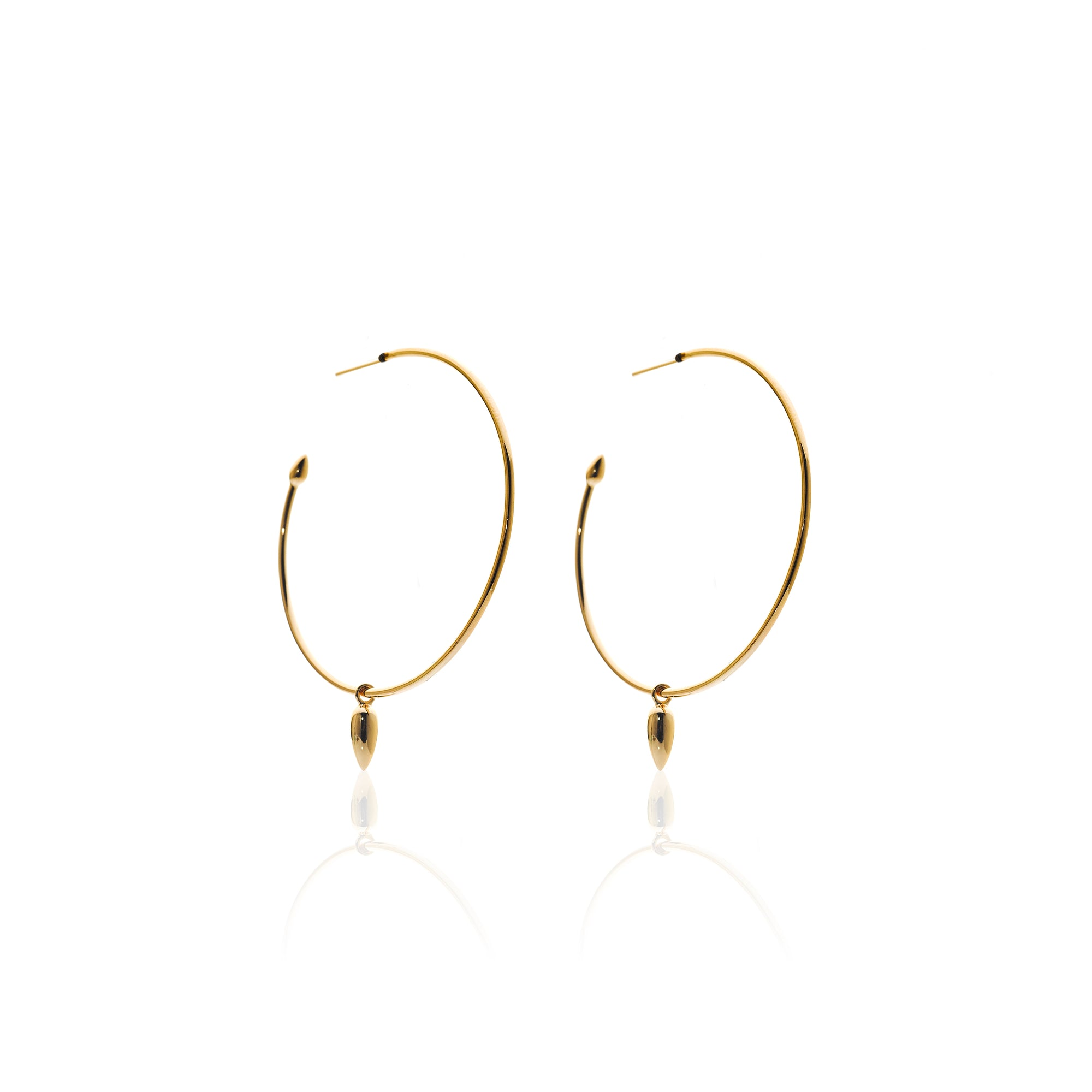 Silk&Steel Jewellery Solo Hoop Earrings Gold From Aria Collection