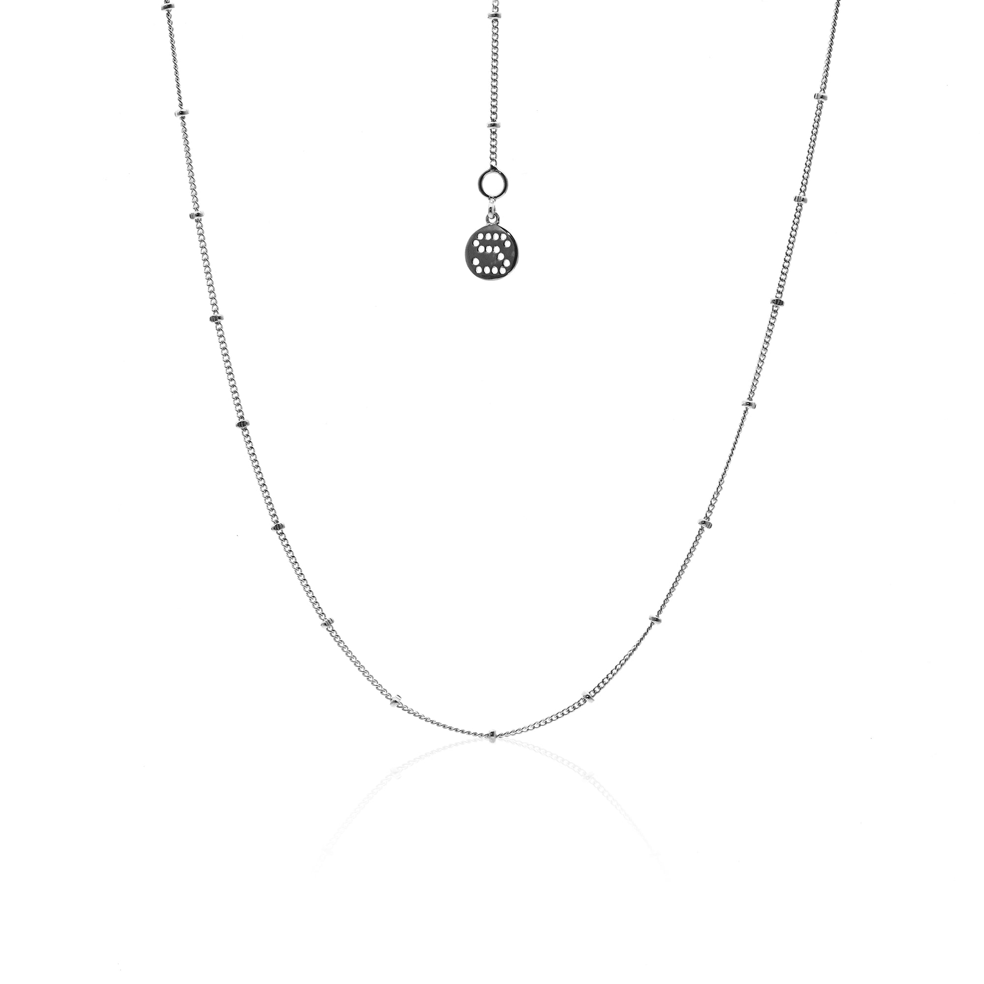 Silk&Steel Jewellery Long Tempo Sterling Silver Choker Necklace From Aria Collection