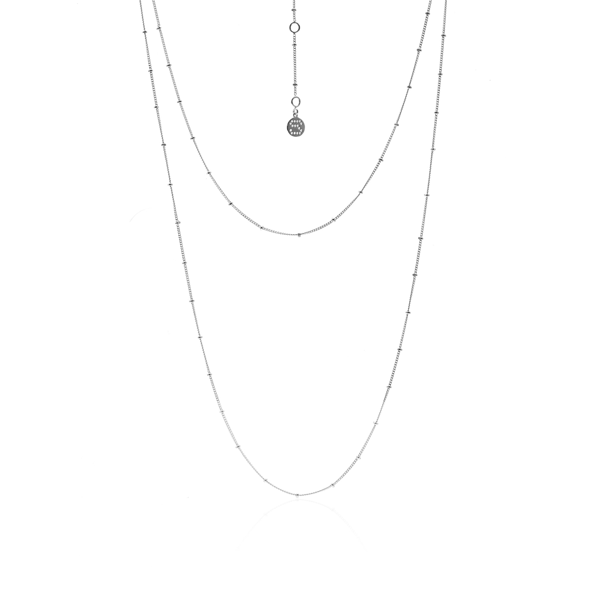 Silk&Steel Jewellery Long Tempo Necklace Silver From Aria Collection