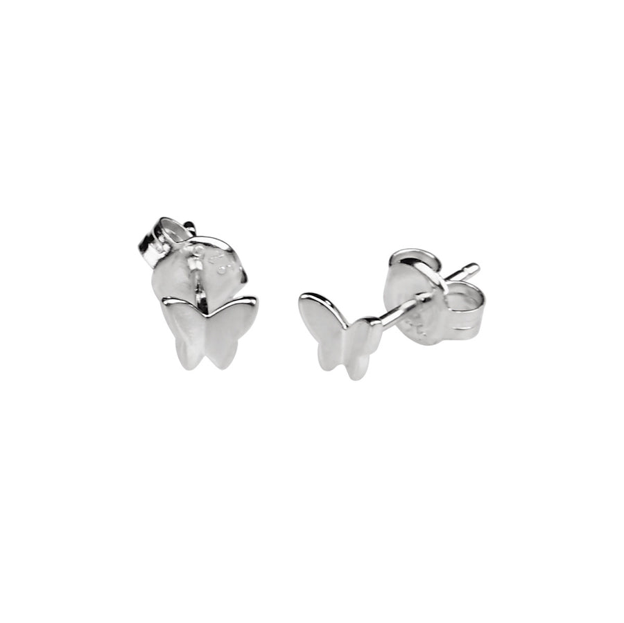 Silk & Steel Butterfly Kisses Sterling Silver Earrings