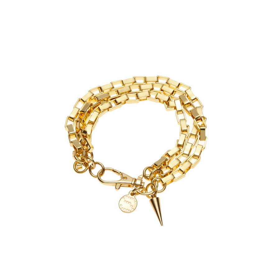 Silk&Steel Chained Up Gold Bracelet