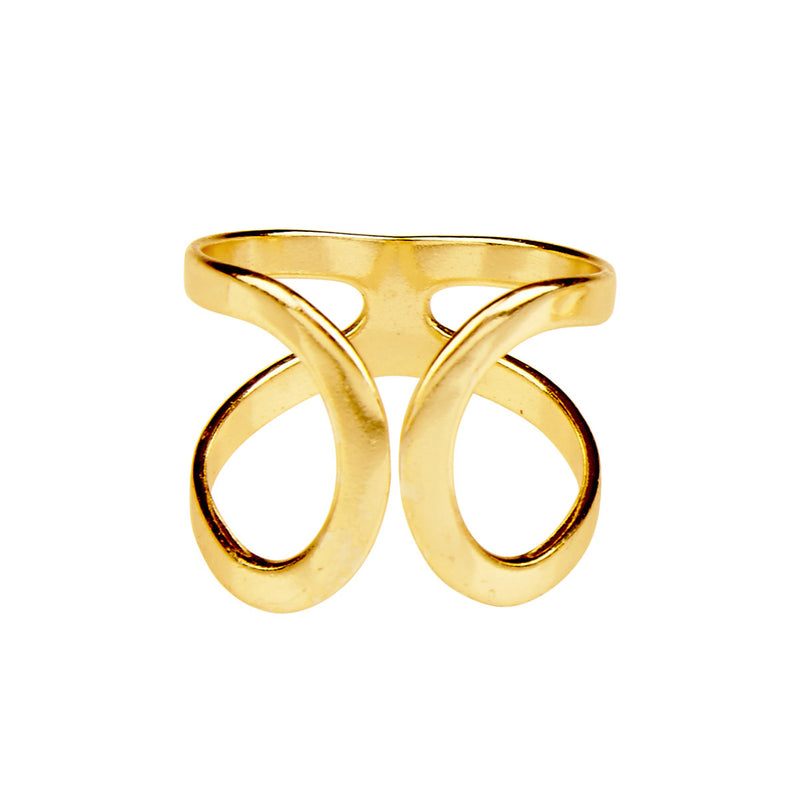 Silk & Steel Forever Gold Plated Sterling Silver Ring