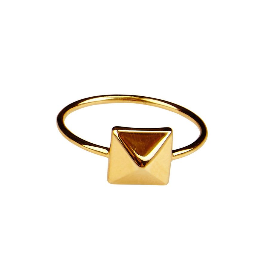 Silk & Steel Hierarchy Gold Plated Sterling Silver Ring
