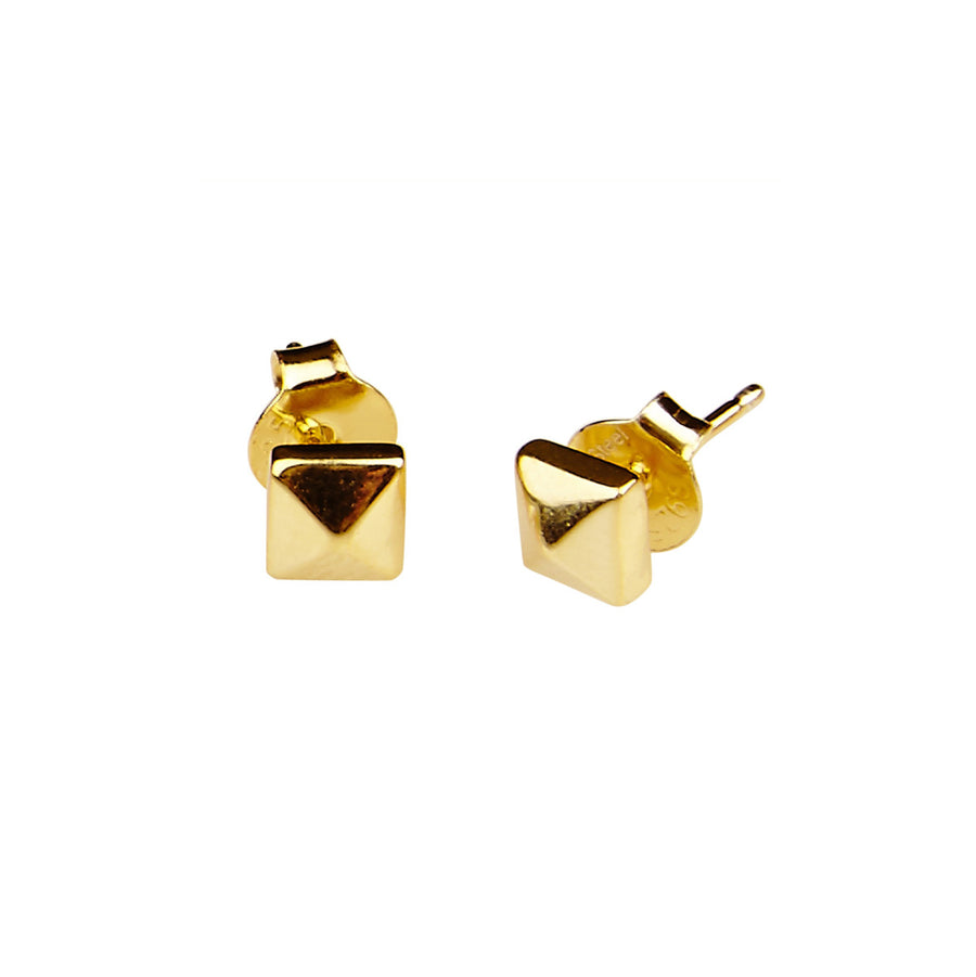 Silk & Steel Hierarchy Gold Plated Sterling Silver Earrings