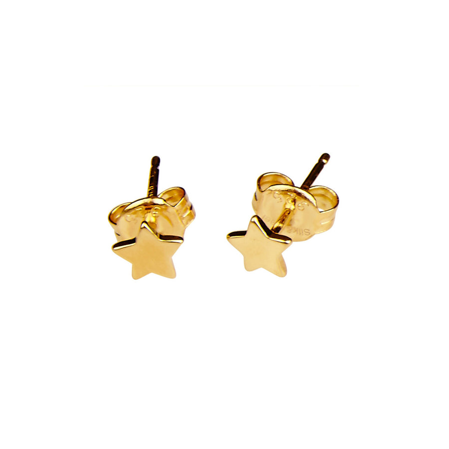 Silk & Steel High Five Gold Plated Sterling Silver Earrings