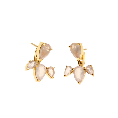 Superluxe / Ear Jackets / Allure / Gold + Rose Quartz