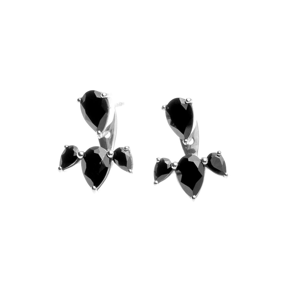 Silk & Steel Jewellery - Allure Ear Jackets - Silver and Spinel